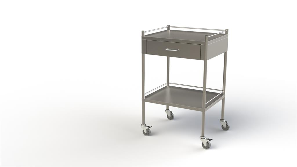 Dressing Trolley Full Width 1 Drawer 90x50x90