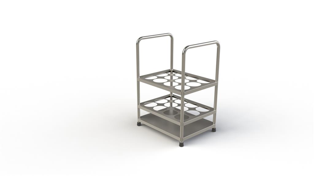 Cylinder Storage Trolley without Wheels 12 Units