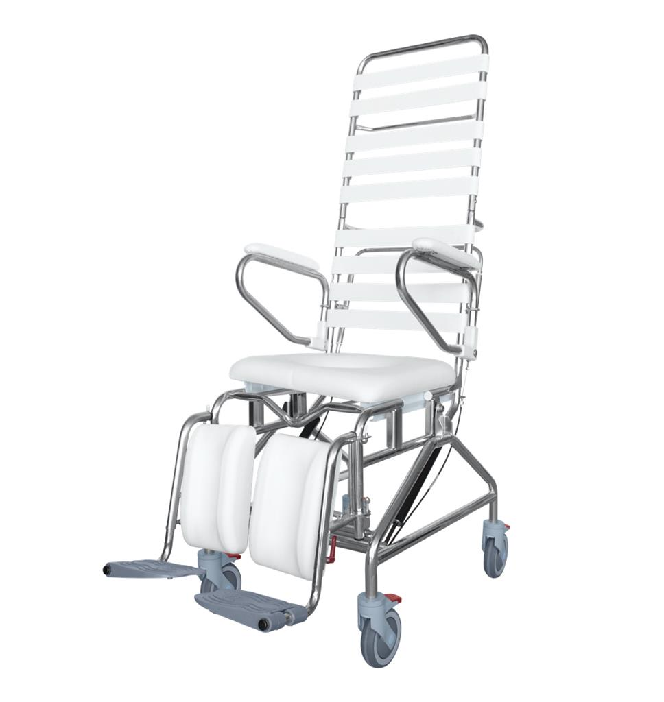 Tilt In Space Mobile Shower Commode with Swingaway Footrest - 445mm