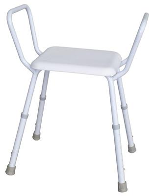 Economy Shower stool with Plastic Seat