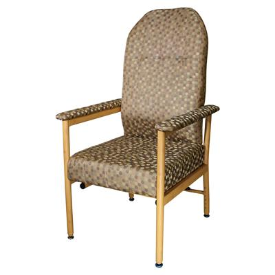 Murray Bridge Chair with High Back - Dot Coffee