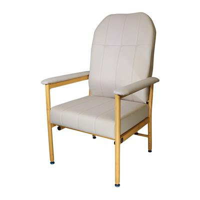 Murray Bridge Chair with High Back - Fawn Vinyl 520mm