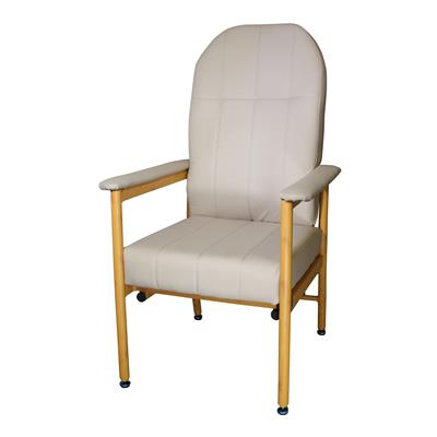 Murray Bridge Chair with High Back - Fawn Vinyl