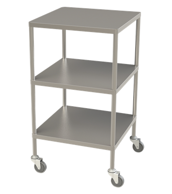 Instrument Trolley 3 Shelves No Rails 90x50x90