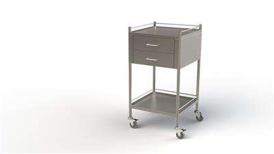 Dressing Trolley Full Width 2 Drawer 50x50x90